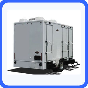Portable restroom trailer for rent near Atlanta Georgia and surrounding cites.